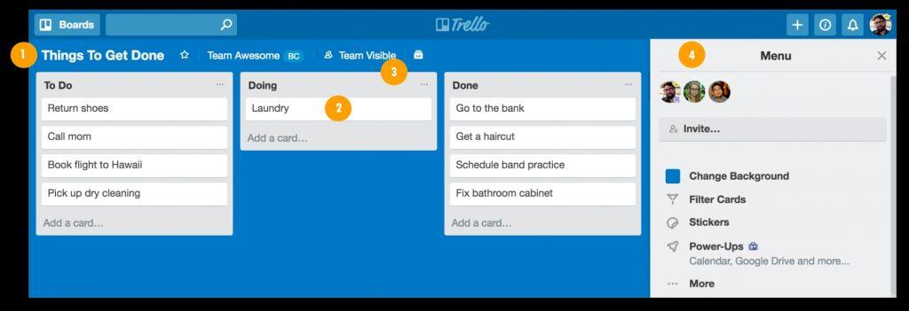 Trello adalah aplikasi untuk memudahkan pengelolaan project