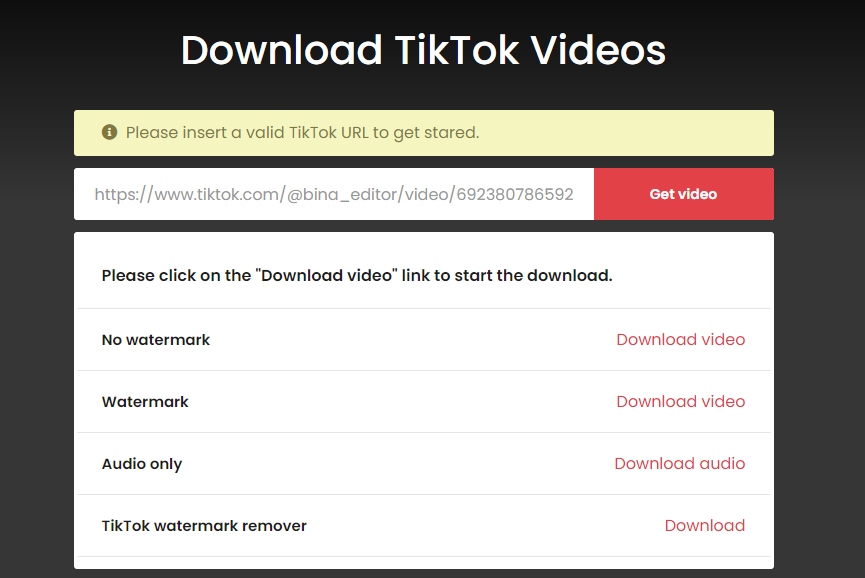 Cara Download Video TikTok
